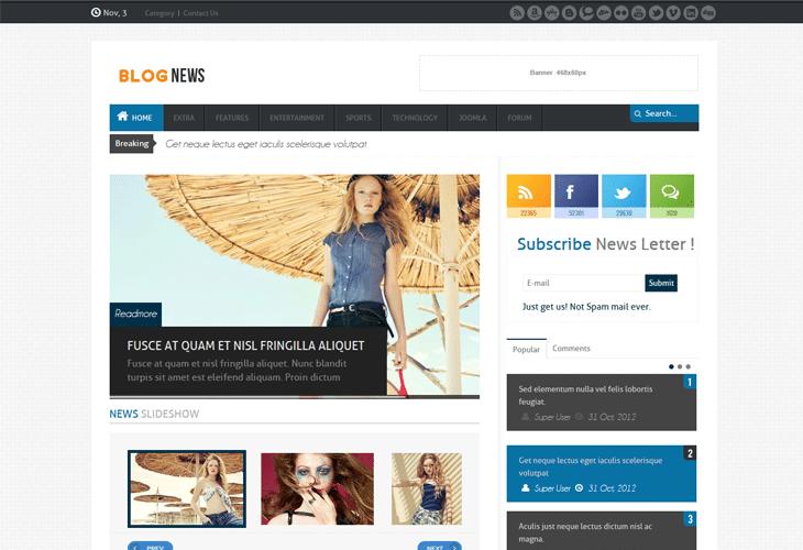 news magazine joomla responsive templates - Free Responsive Joomla Templates