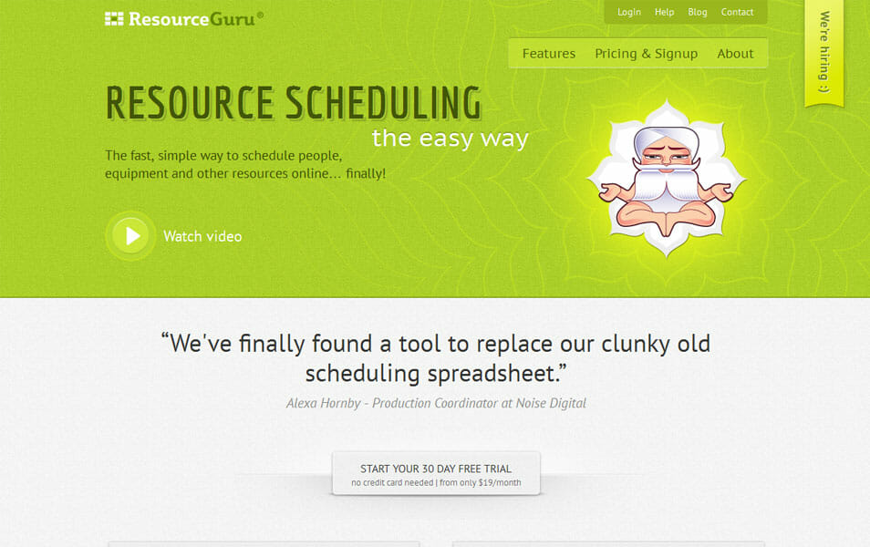Resource Guru App