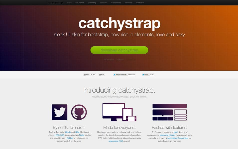 CatchyStrap Bootstrap Responsive Skin
