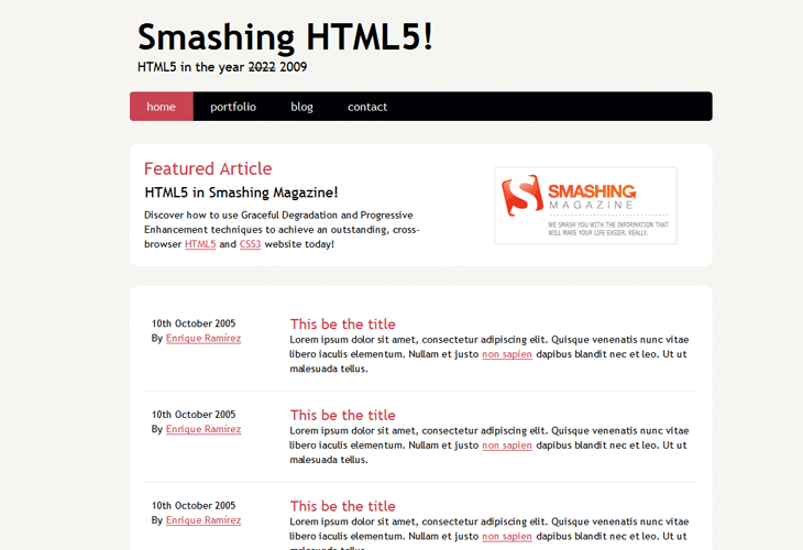 Coding An HTML 5 Layout From Scratch