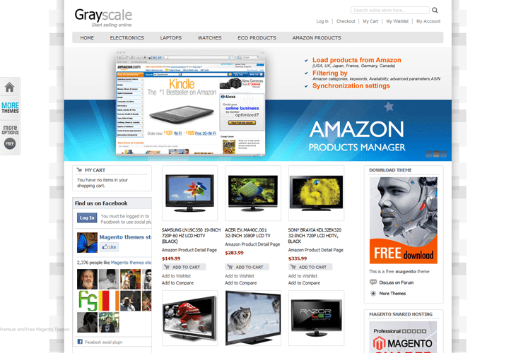 50 best responsive magento templates grayscale free magento template maxwellsz