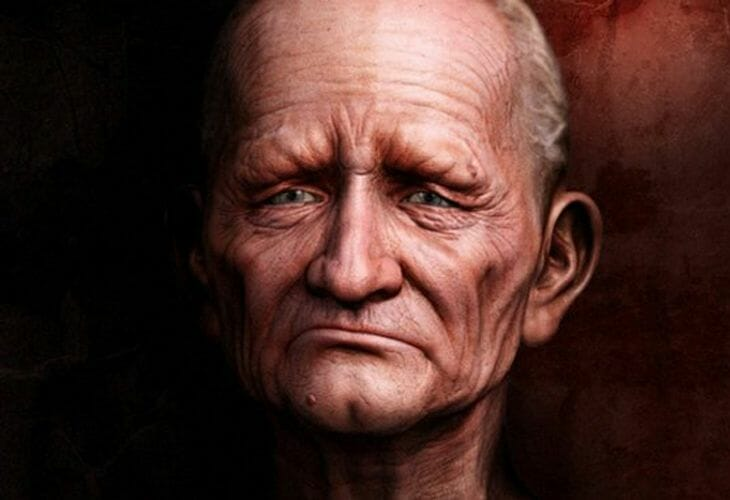 Old Man 3D Character - cssauthor.com