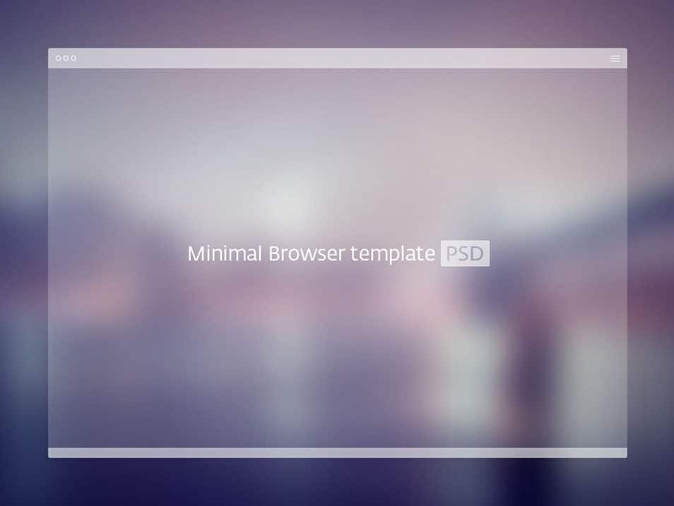 PSD Minimal Browser Template