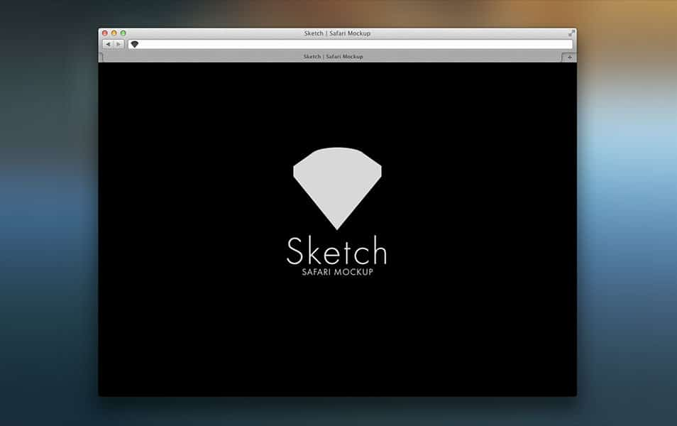 Safari Browser Sketch Mockup