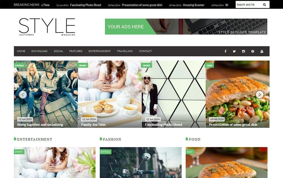 150+ Free Responsive Magazine Style Blogger Templates 2018