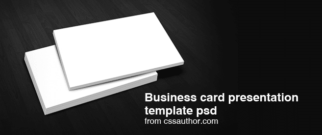 free download business card presentation templates psd freebie no 4