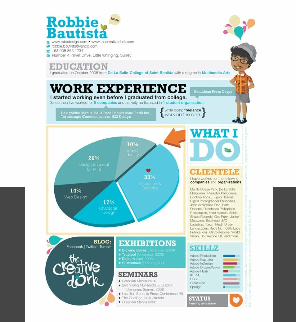 50 creative cv/resume design inspiration
