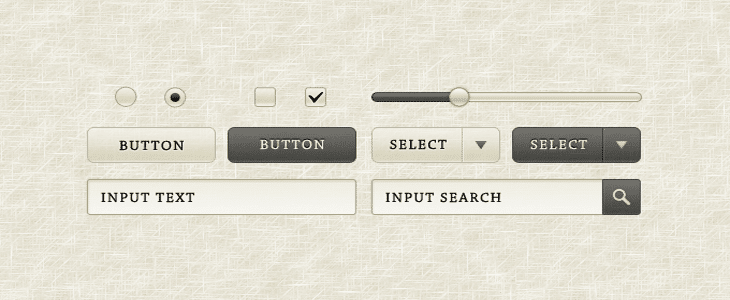 Sepia GUI Elements