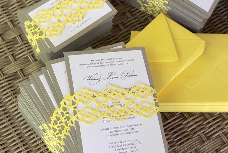 Summer Palace Fret Wedding Invitation Design