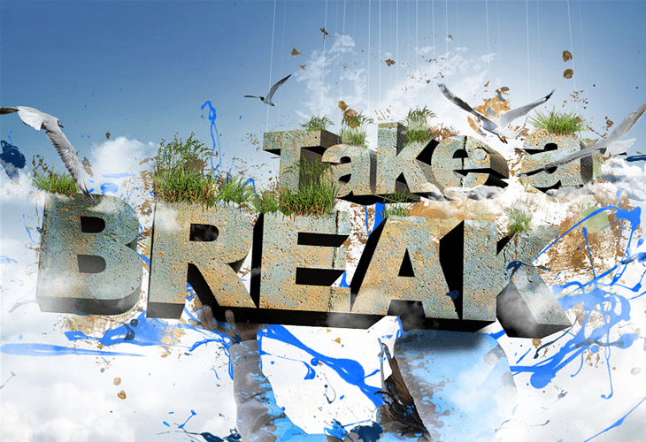 Take a Break 3D Text Composition