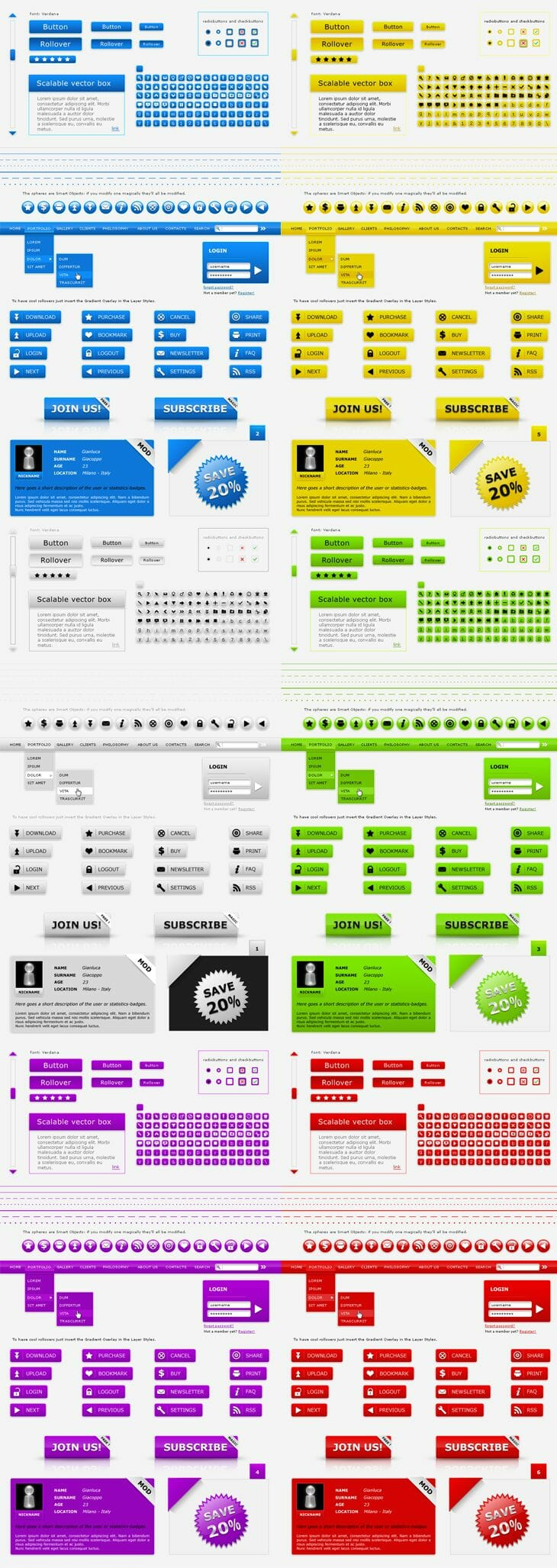Web Kit Interface Layout Pack