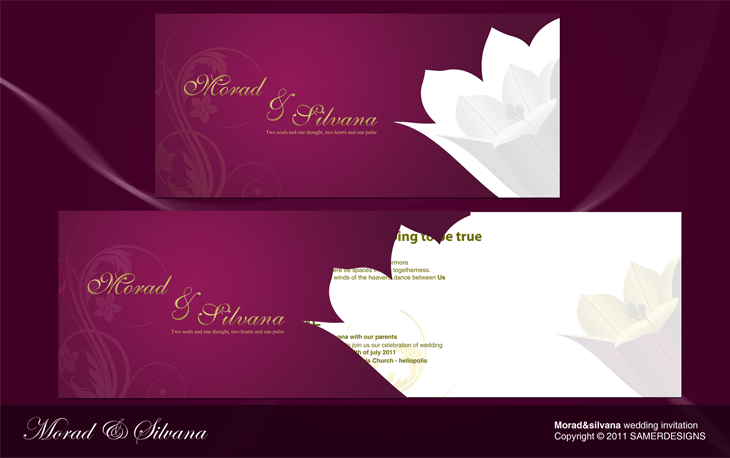 Morad & Silvana Wedding Invitation