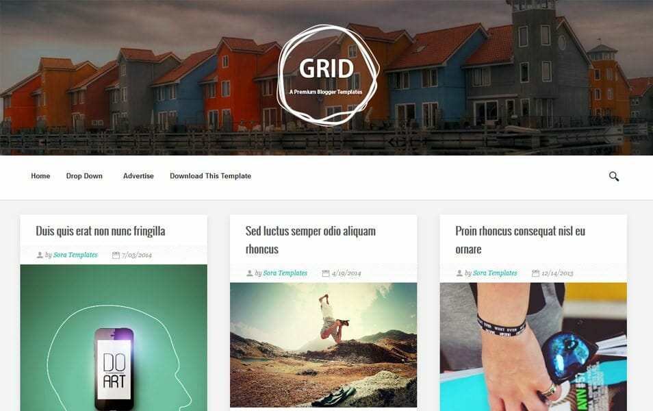 Grid Responsive Blogger Template