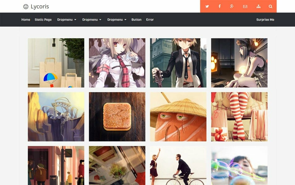 Lycoris Responsive Gallery Blogger Template