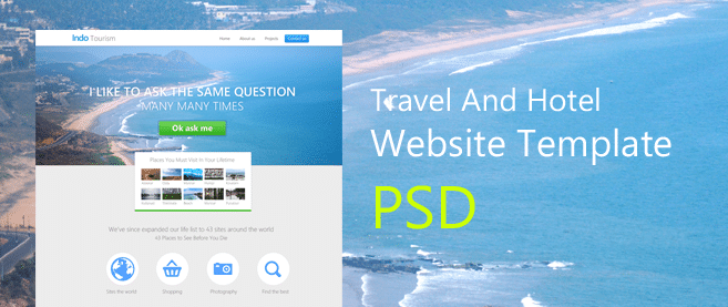 Beautiful travel and hotel website template psd for free download beautiful travel and hotel website template psd for free download freebie no 70 maxwellsz