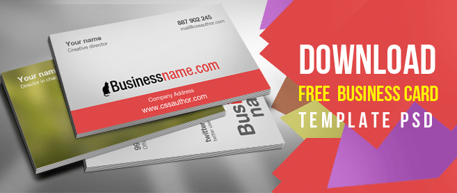 Download free business card templates psd freebie no 64 flashek