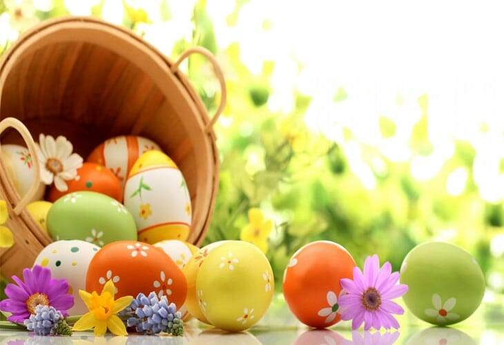 Easter Eggs Background Wallpaper
