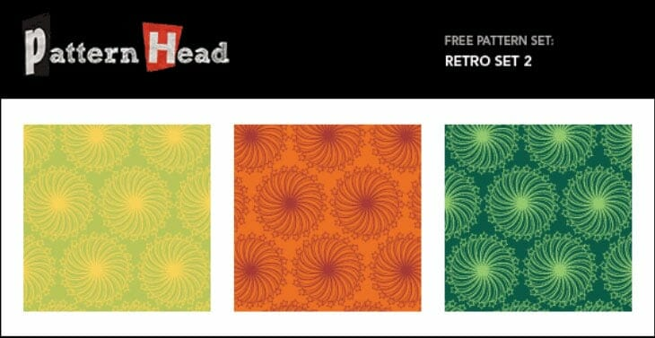 Free Vector Repeat Patterns – Retro Set 2