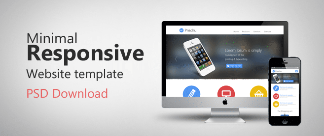 Minimal Responsive Website Template PSD For Free Download - Freebie ...
