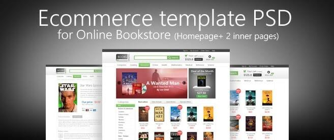 e commerce template psd for online bookstore freebie no 68