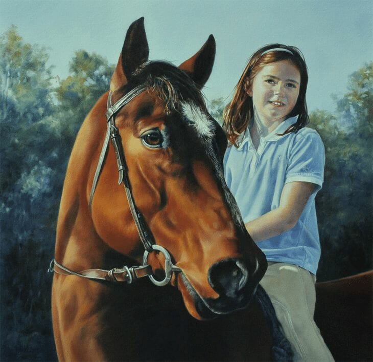 Tabby and Teddy - Oil Painting