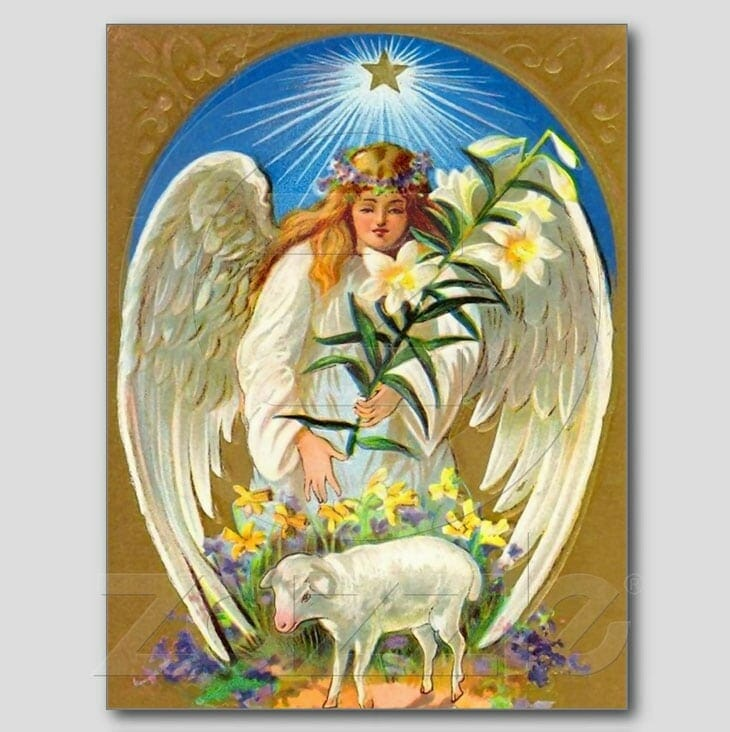 Vintage Easter Angel Postcard