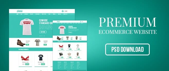 Premium Ecommerce Website Template PSD for Free Download