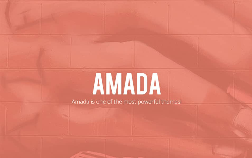 Amada - Flat and Fresh WordPress Theme