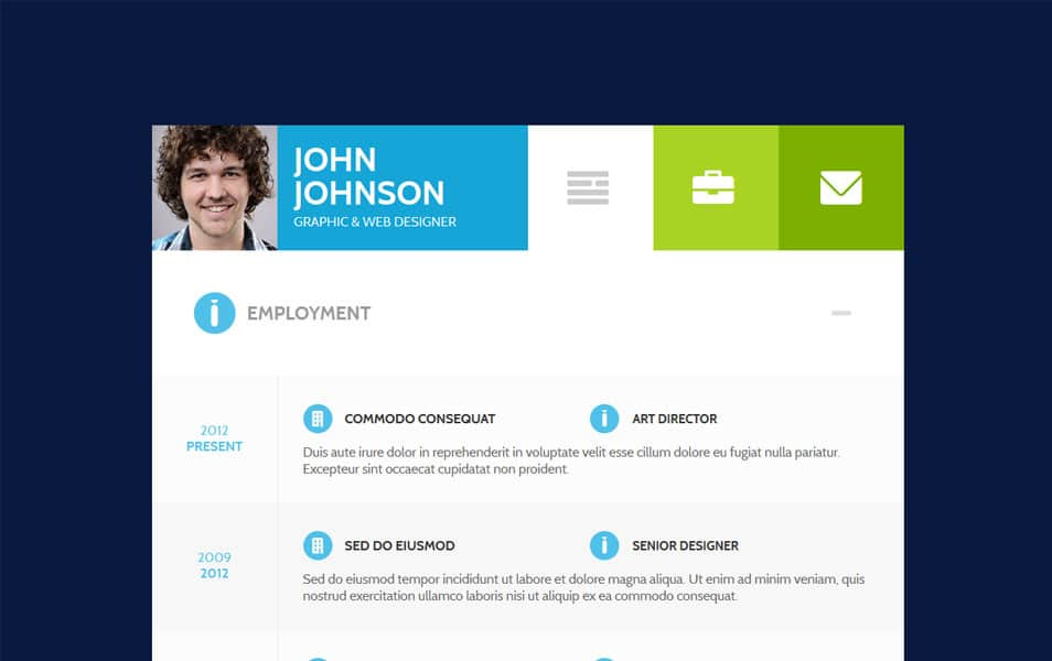 FlatCV - Resume \ Portfolio \ WordPress
