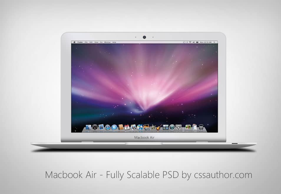 Macbook Air – Fully Scalable PSD