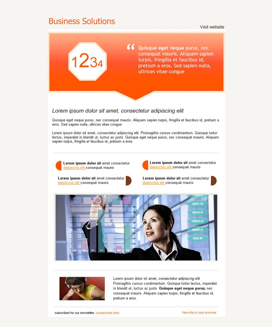 Newsletter 6: Free PSD Email Newsletter Template