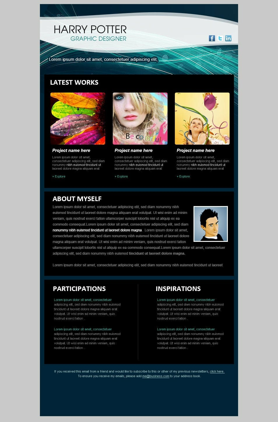 Best Free Email Newsletter Design Templates Latest Collection - 3 column newsletter template