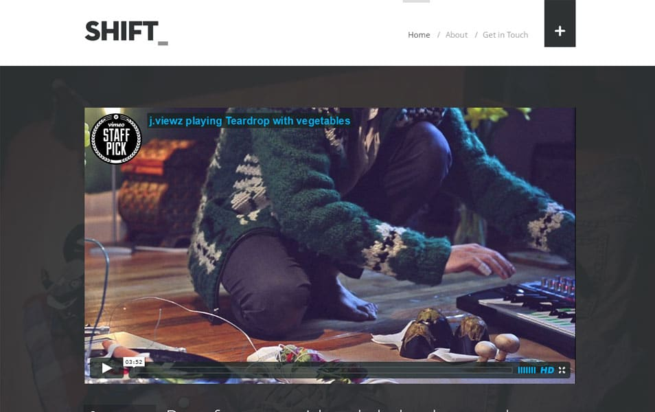 Shift - A Tumblog Style WordPress Blogging Theme