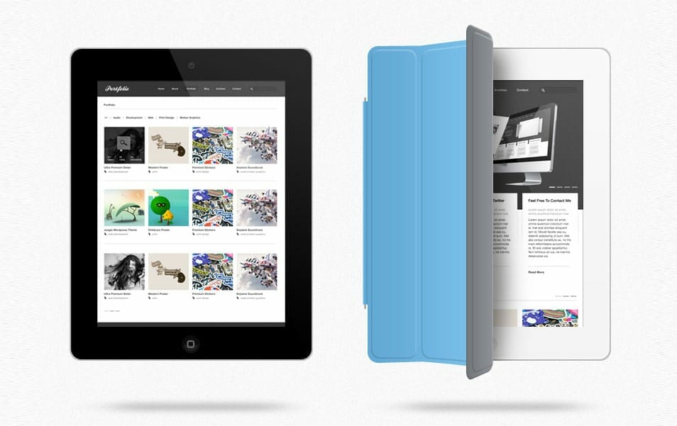 iPad Web Preview Mockup