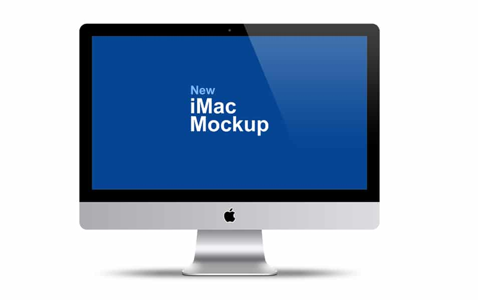 Apple iMac 27 Mockup PSD Template