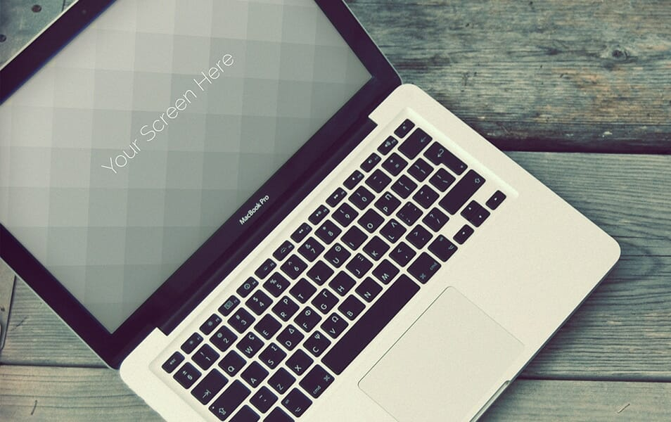 Free Vintage Macbook photorealistic mockups