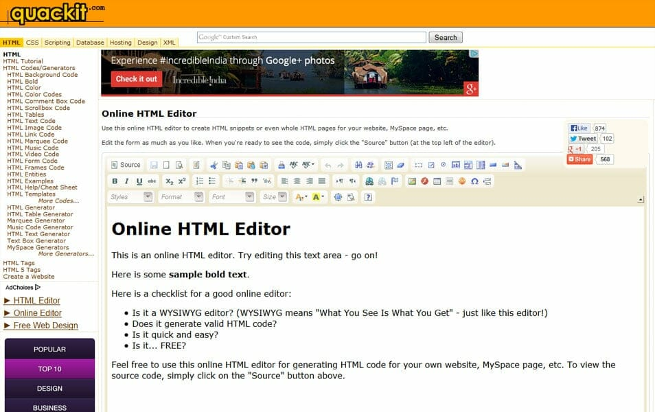 online html compiler