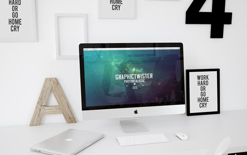 Workspace Mockup iMac Template