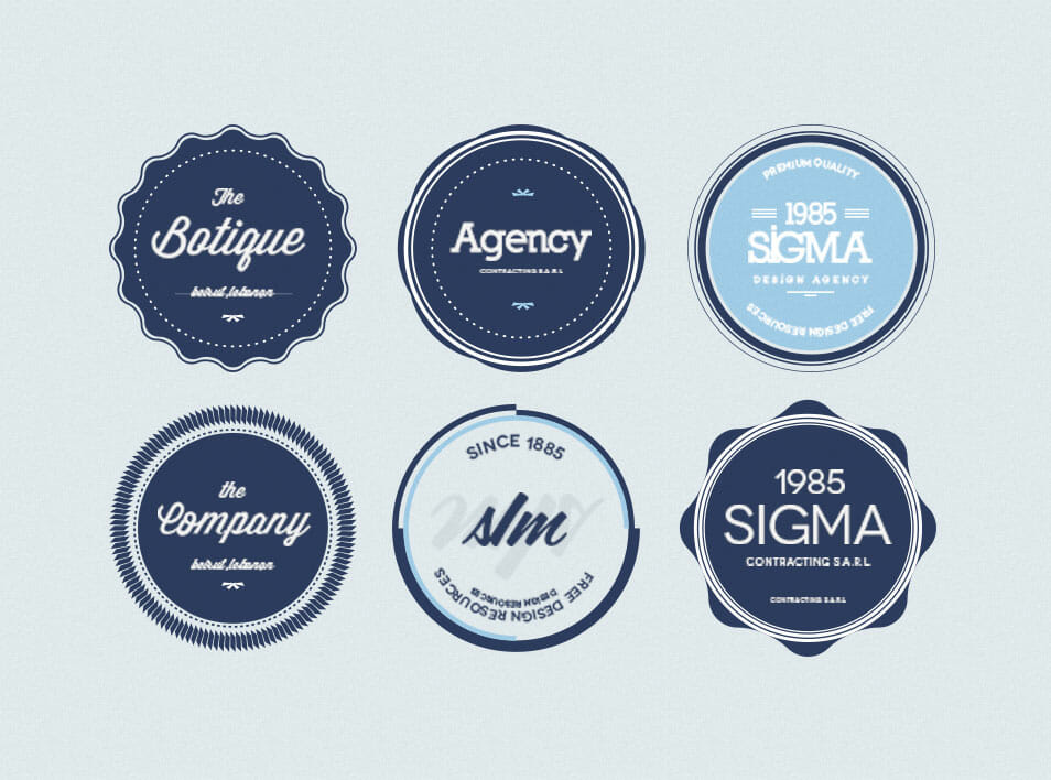100 Best Free Badges Vector PSD CSS Author