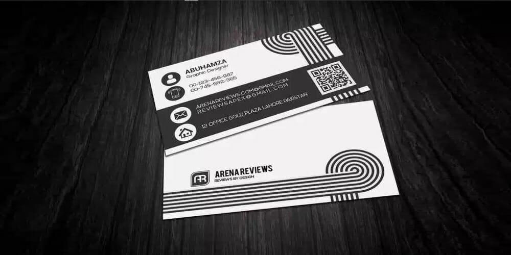 Black & White Creative Business Card Template PSD