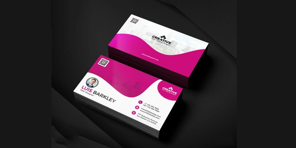 100 free business cards psd the best of free business cards business card design templates set wajeb Gallery