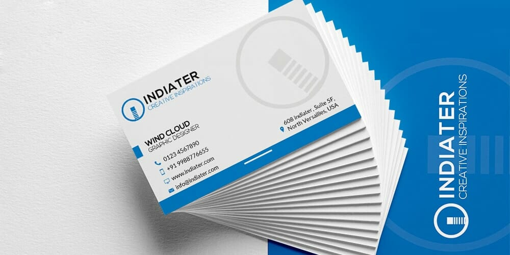 Business Card Printable Template PSD