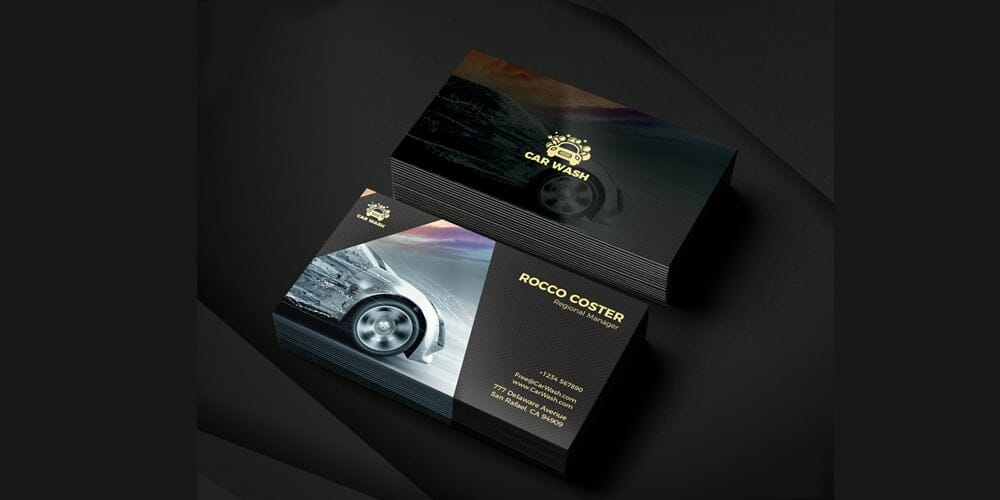 100 free business cards psd the best of free business cards car wash business card psd reheart Gallery
