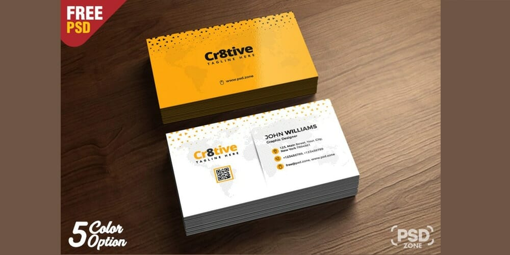 Clean Business Card Design PSD