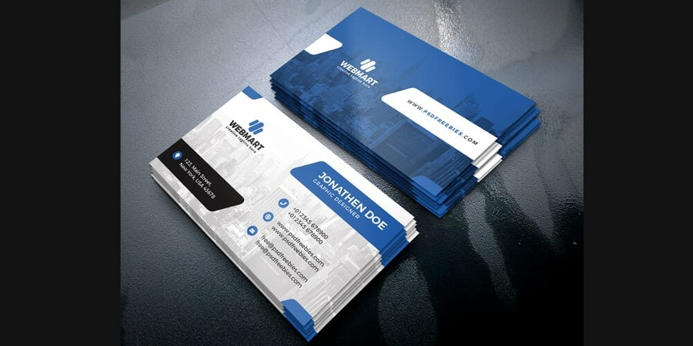 100 free business cards psd the best of free business cards clean business card templates psd reheart Gallery