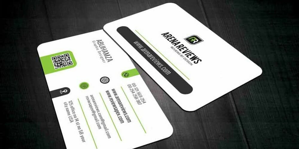 Corporate White Business Card Template PSD