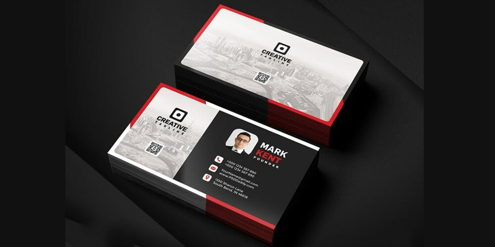 100 free business cards psd the best of free business cards creative and clean business card template psd cheaphphosting Gallery