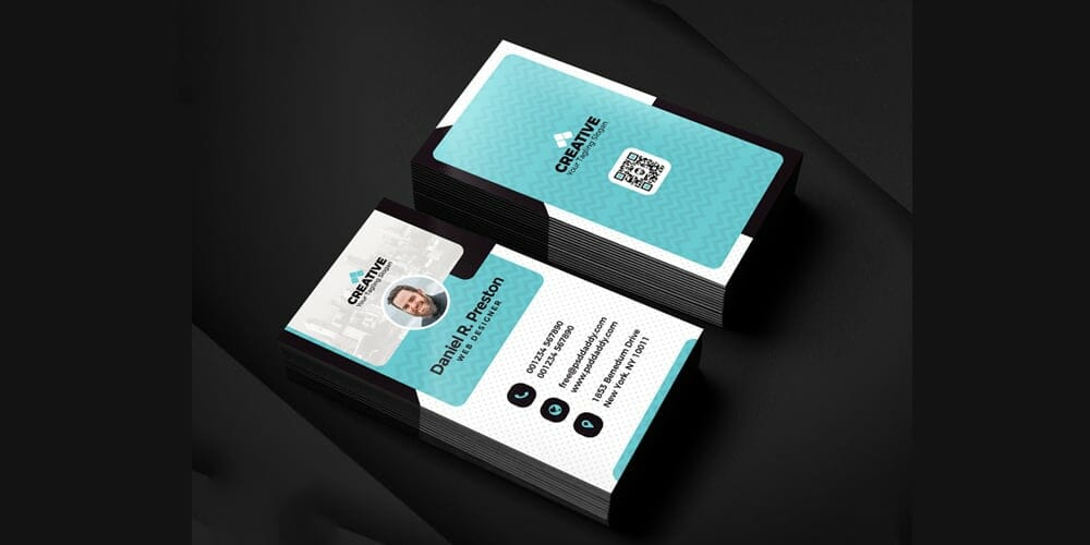 100 free business cards psd the best of free business cards creative and clean business card templates psd wajeb Image collections
