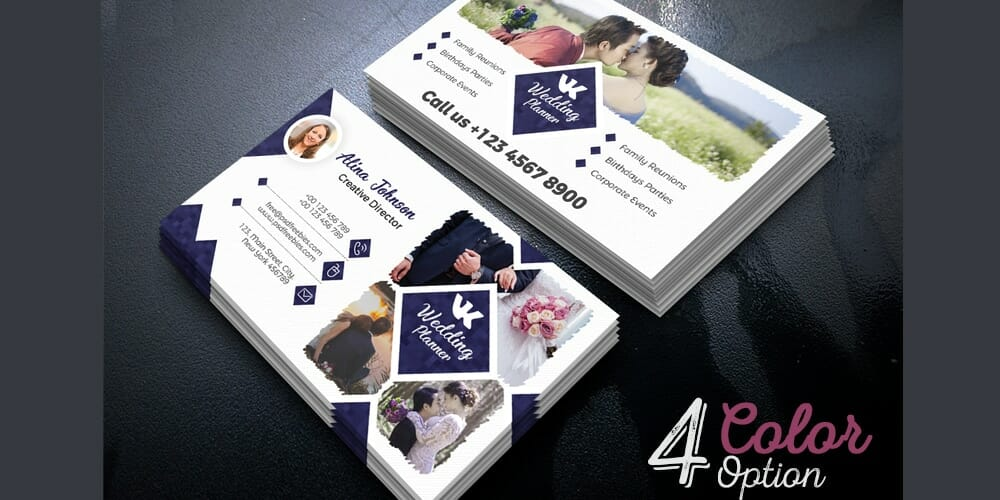 Event Planner Business Card PSD