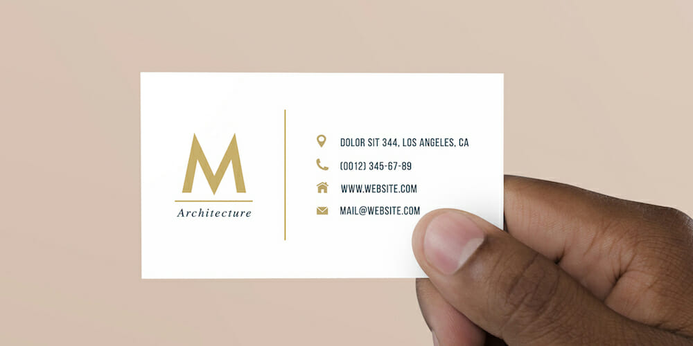 Free Basic Business Card Template PSD
